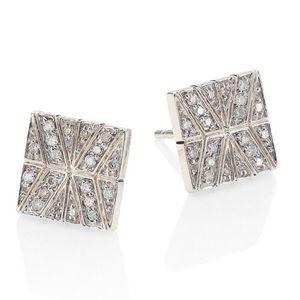 John Hardy Diamond Sterling Silver Stud Earrings